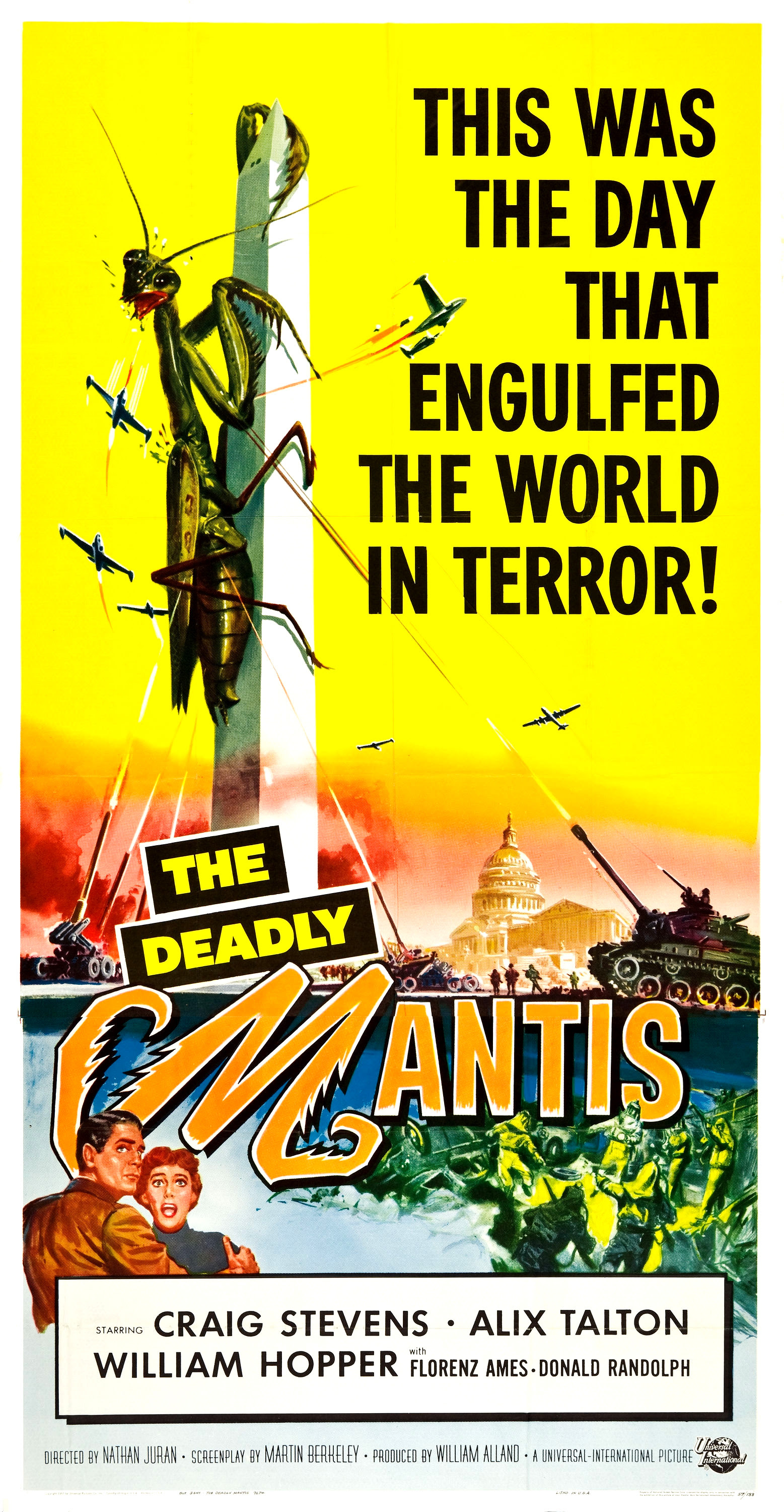 Reynold Brown - The Deadly Mantis (Universal International, 1957)