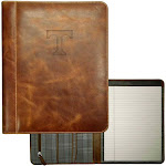 Tennessee Volunteers Vols UT Padholder Tan Genuine Leather Padfolio