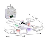 XINLIN Shiye Quadcopter w/Camera Remote Control Drone, LED Lights & Flip - 2.4GHz 6-Ch/6-Axis X119