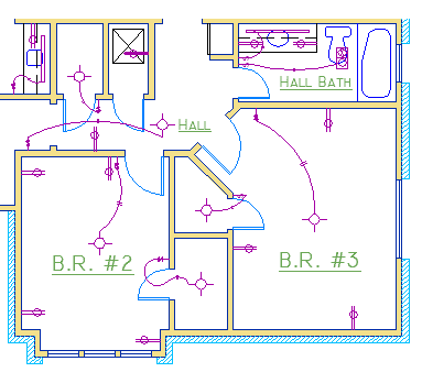 House Wiring Diagram In Autocad Home Wiring and Electrical Diagram