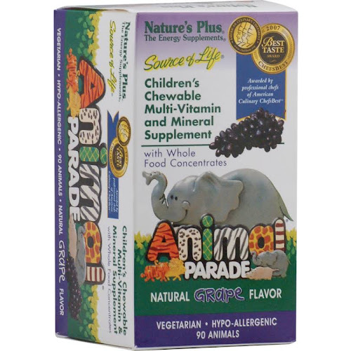Nature's Plus Animal Parade - Grape - 90 Chewable