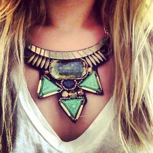 Tribal and sort of Egyptian but all exotic statement necklace  Styles like these and more at www.thestatementnecklace.com