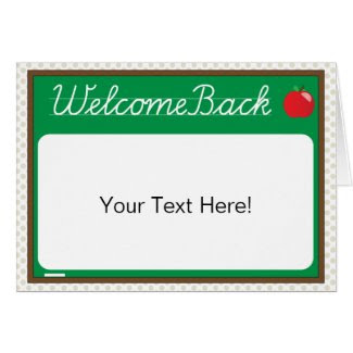 Welcome Back {student card}