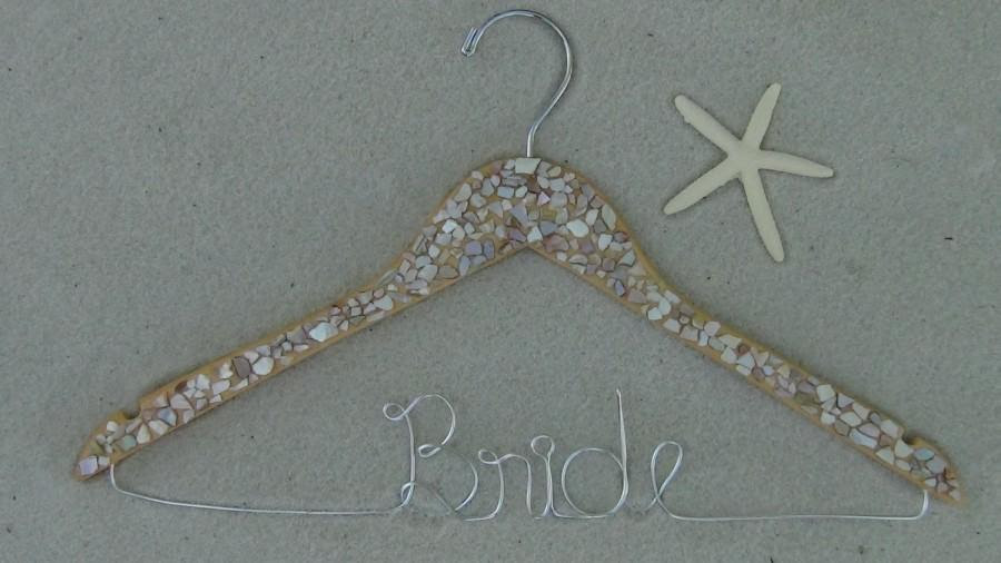 Huge Sale Personalized Keepsake Bridal Hanger Beach Theme Bridal