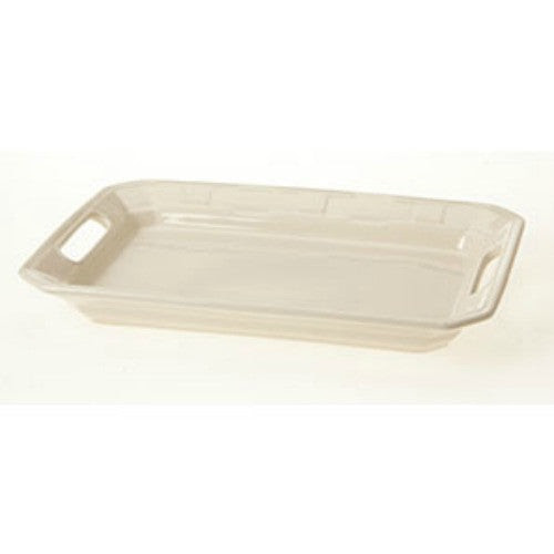 Longaberger Woven Traditions® Pottery Handled Platter - IVORY