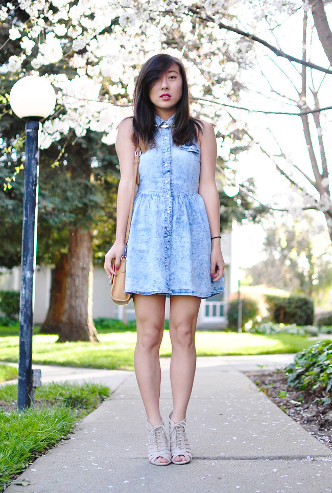 summer style, summer fashion, acid washed, dresses, denim, studs, summer break, internship, lucky brand, los angeles, paris, life