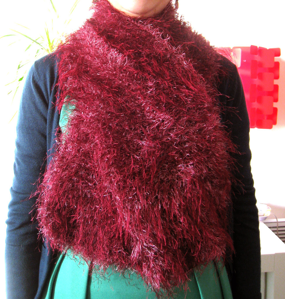 Pink fluffy wrap