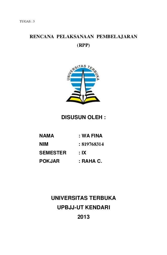 Cover Karya Ilmiah Universitas Terbuka