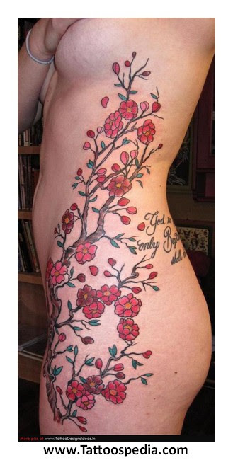 Cherry Blossom Tattoo With Butterfly 4