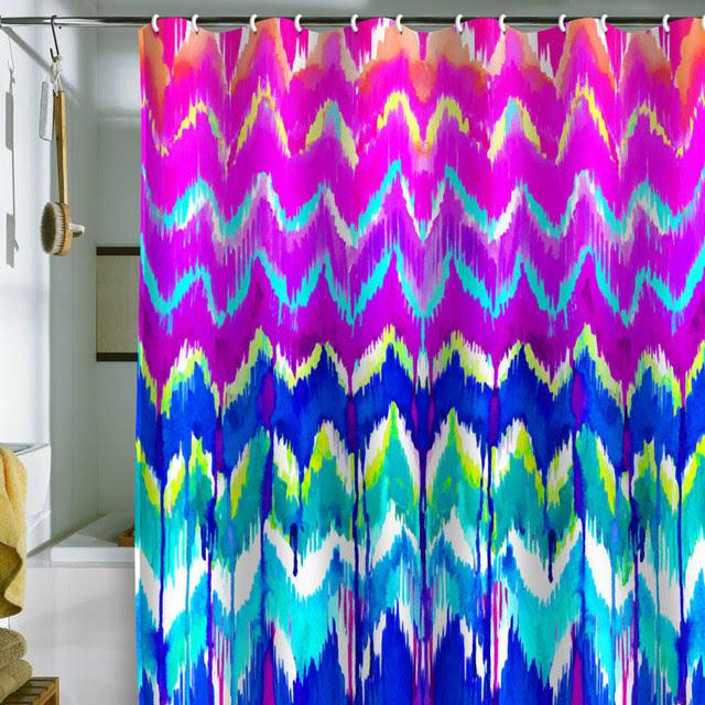 Holly Sharpe Summer Dreaming Shower Curtain - modern - shower ...