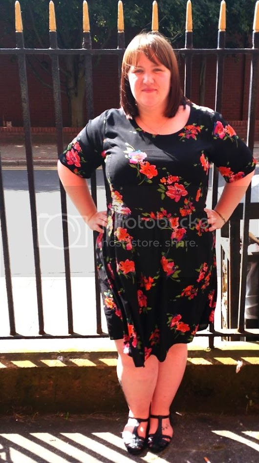 OOTD - Floral Skate Baby Doll Dress