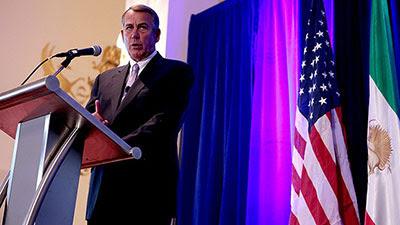 Former US House Speaker John Boehner