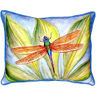 Betsy Drake Dick's Dragonfly Small Indoor/Outdoor Pillow 11x14