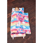 EVERYDAY KIDS Toddler Nap Mat with Removable Pillow - Unicorn Dreams