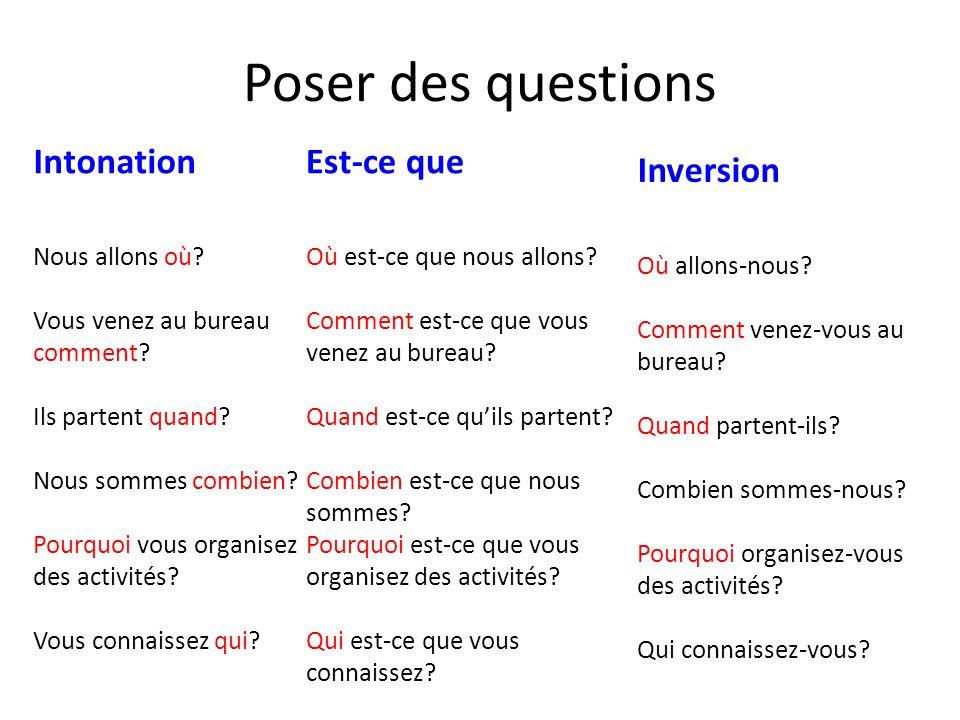 Zdania i pytania - zadawanie pytań 4 - Francuski przy kawie