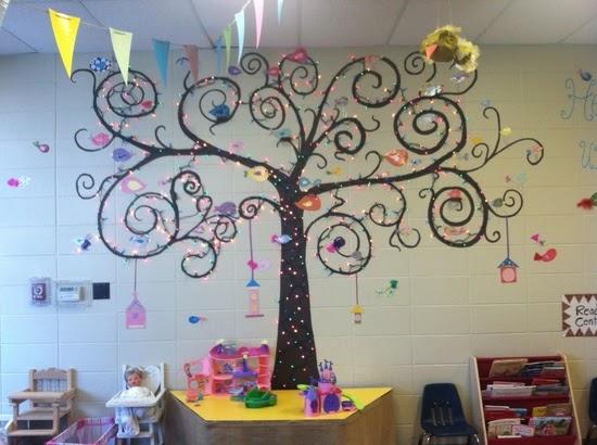 Classroom Decoration Ideas Tree ~ Classroom decor ideas cute tree with christmas lights for