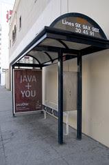 """Java + You"" Bus Stop, San Francisco"