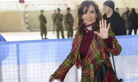 Cristina Fernández de Kirchner em Río Gallegos.