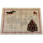 Carnation Home Letter to Santa Holiday Place Mat