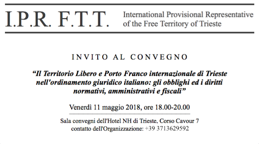 Trieste: first legal-economic conference about the Free Territory & international Free Port