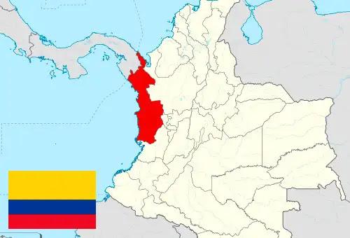 )El Chocó en el mapa de Colombia (Shadowxfox (CC BY-SA 3.0)