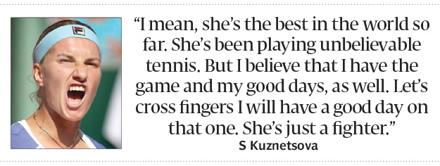 French Open Serena Sets Up Kuznetsova Showdown The Express Tribune
