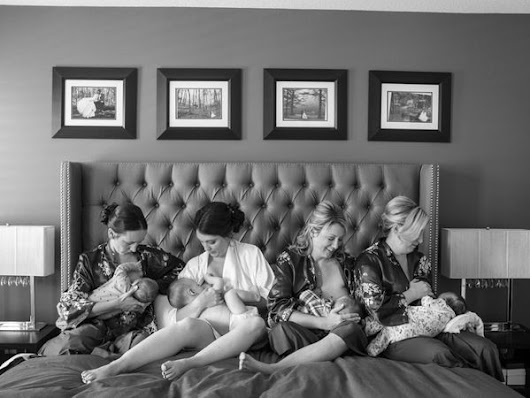 Bride And Her Best Friends Breastfeed Together In Gorgeous Photo