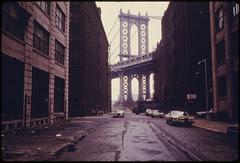 Manhattan Bridge Tower in Brooklyn, New York C...