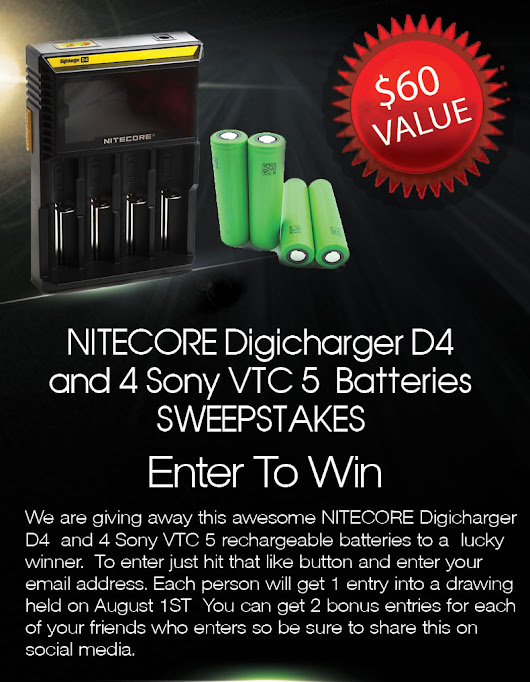 Free NITECORE D4 Charger and Sony Batteries Giveaway