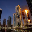 Flames engulf 34-story luxury high-rise in Dubai