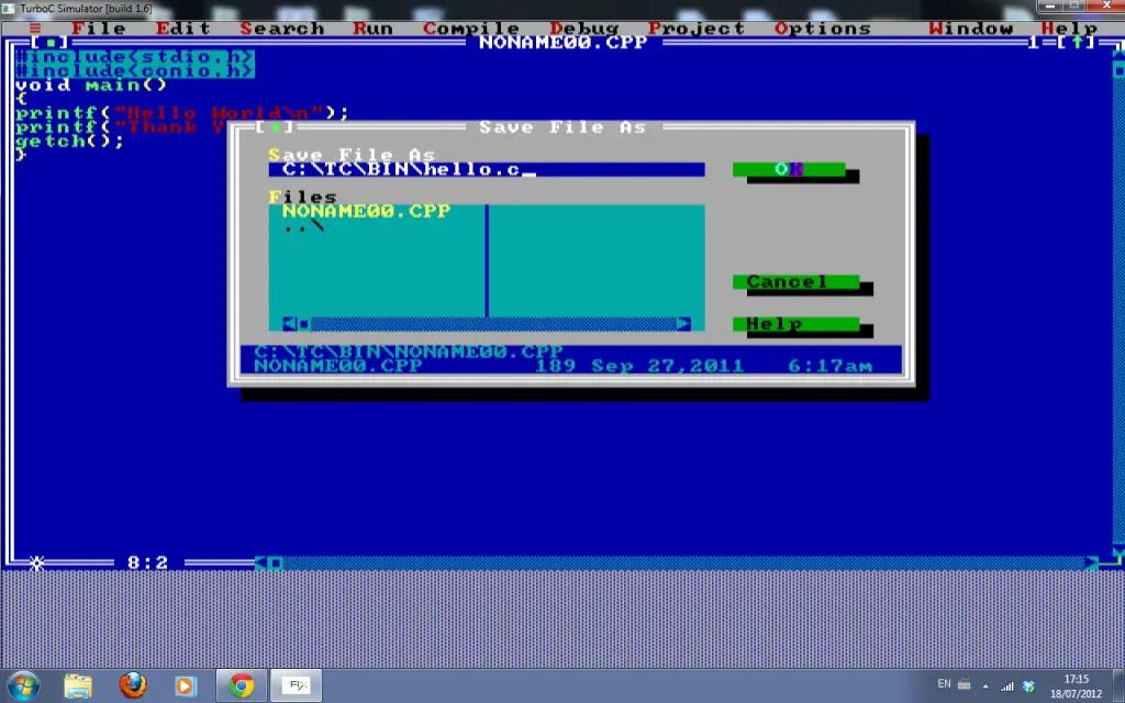 Turbo C tutorial