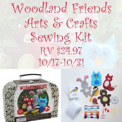 Woodland Friends Arts & Crafts Sewing Kit Giveaway. Ends 10/31