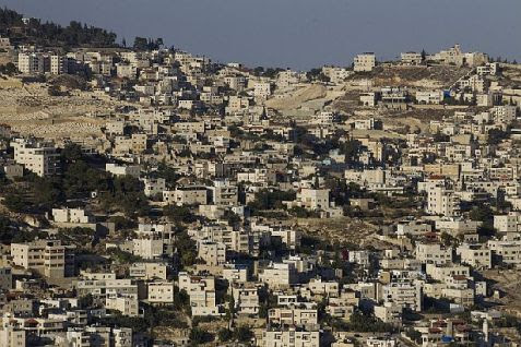 View of the neighborhood of Ras al-Amud in the Shiloah (Silwan) section of Jerusalem. (file)