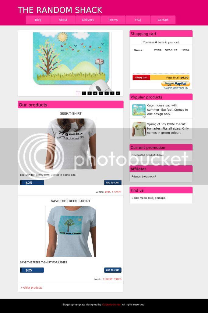 blogshop template 2