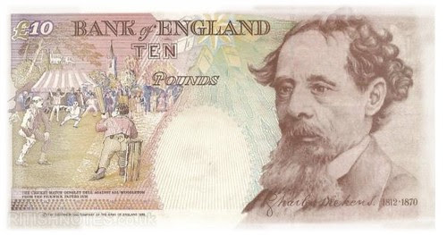 Dickens of an old £10 note