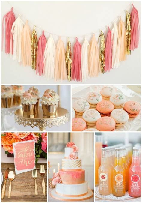 Coral and Peach Party and wedding Inspiration, Macaroons