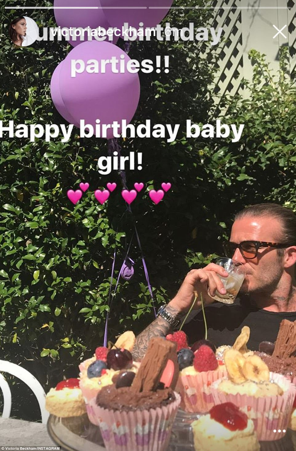 'Happy birthday baby girl': Victoria, 43, had taken to Instagram to document the celebrations that took place ahead of her daughter Harper's sixth birthday on Monday