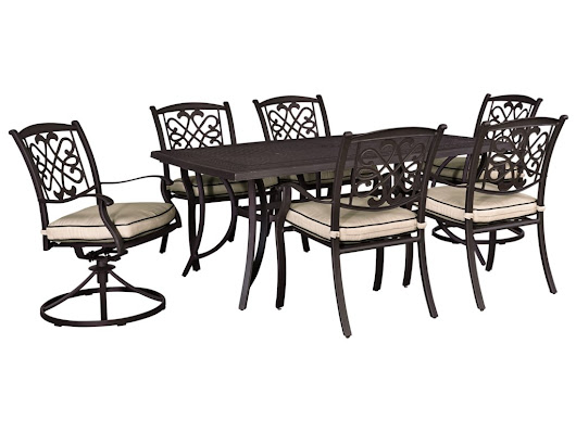 Burnella Outdoor Dining Set by Signature Design by Ashley at Lapeer Furniture & Mattress Center
