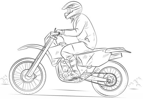 Coloriage Moto Cross Coloriages à Imprimer Gratuits