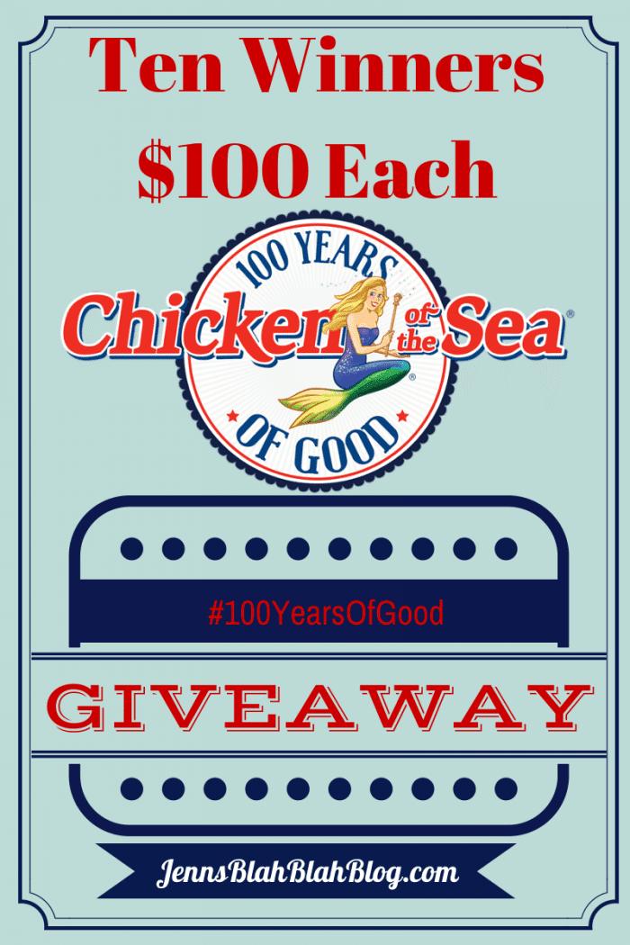 - Chicken of the Sea #100YearsOfGood Giveaway 10 Winners