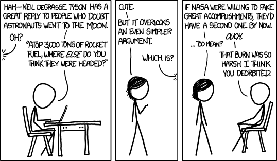 XKCD on moon landing conspiracies