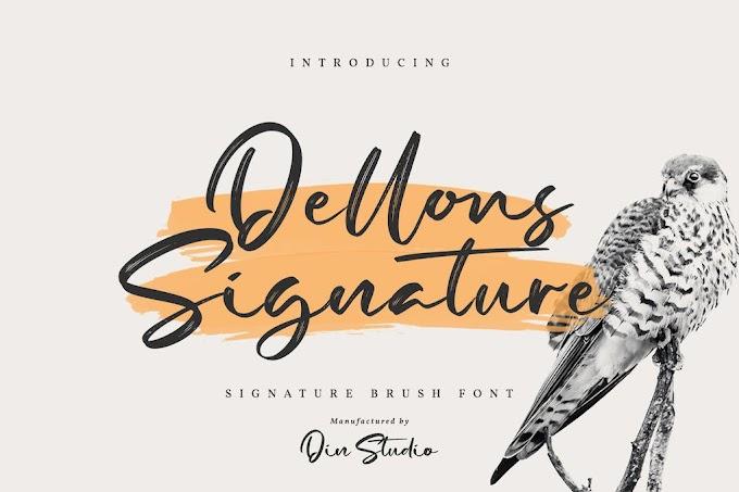 Dellons Singature-Elegant Brush Font