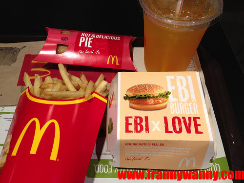mcdonalds ebi burger