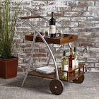 Christopher Knight Home Clover Farmhouse Cottage Acacia Wood Bar Cart by Dark Oak