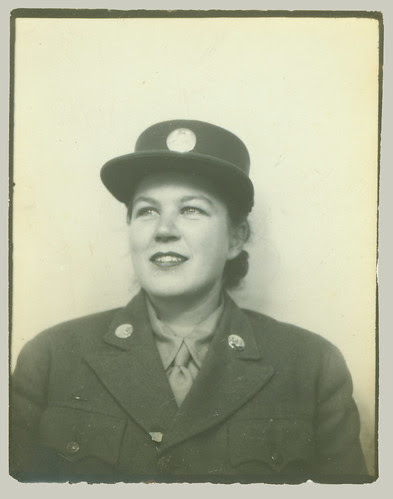 Photo booth Uniformed Woman