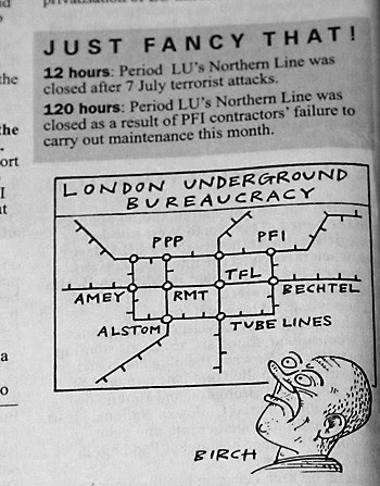 Excellent Private Eye comment & cartoon on the Northern Line & PPP