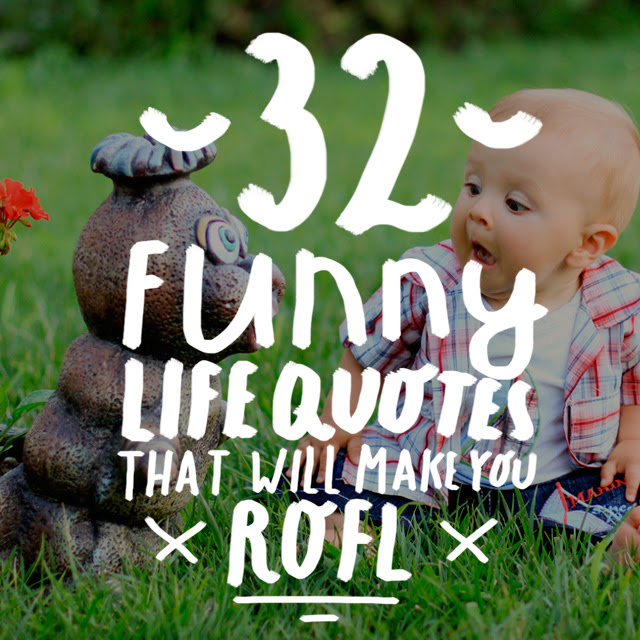 32 Funny Life Quotes That Will Make You ROFL - Bright Drops