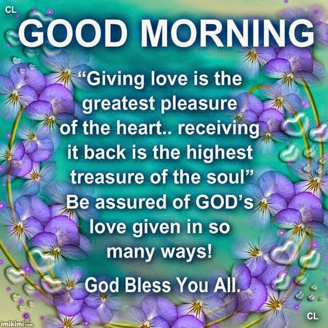Good Morning Giving Love Pictures Photos And Images For Facebook