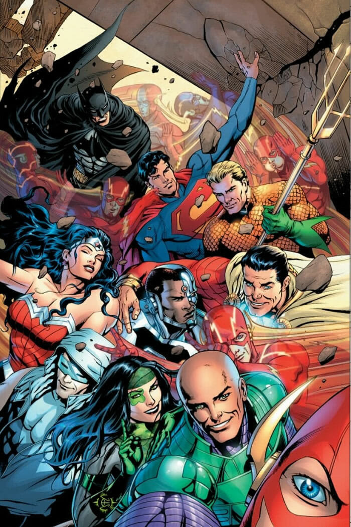 ilustracoes-super-herois-dc-comics-tirando-selfie_1