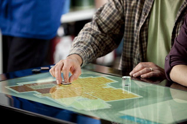 Being able to move objects on top of the screen revolutionises how the touchscreen can be used - you could play board games on it, or use it to plan buildings